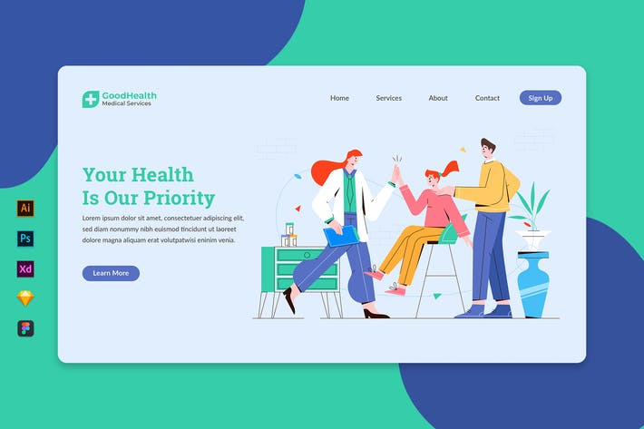 Thumbnail for Healthcare & Medical Exam - Landing Page