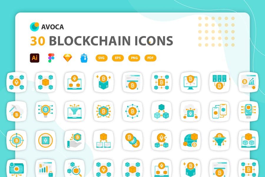 Avoca - Blockchain-Symbole