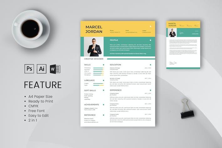 Thumbnail for Professional CV And Resume Template Marcel Jordan