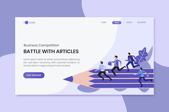 Thumbnail for Battle With Articles Business Competition Landing