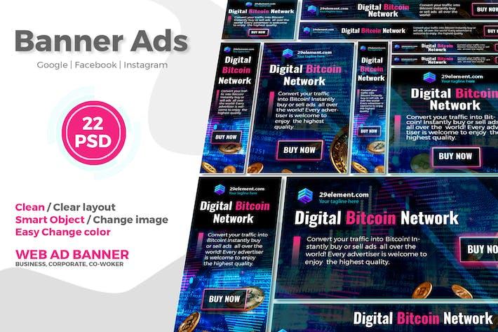 Thumbnail for Blockchain Platform Google Ads Web Banner V.3 - Tr
