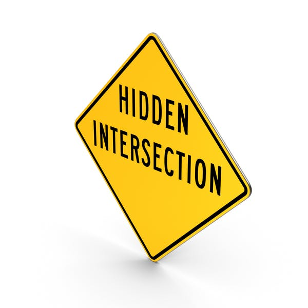Hidden Intersection Road Sign