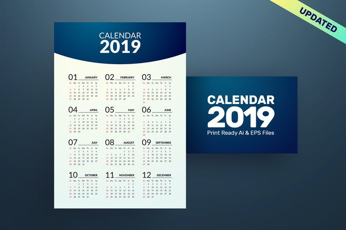 Cover Image For Minimal Calendar 2019