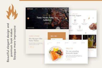 Steaque | Restaurant and Cocktail Bar WordPress Th