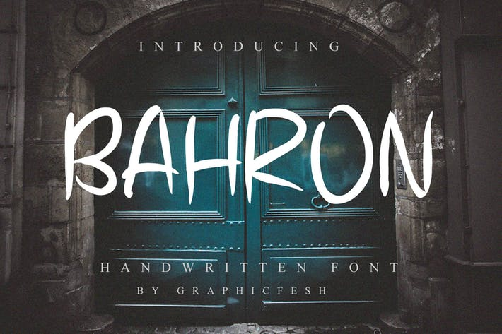 Thumbnail for Bahron - Handwritten Font