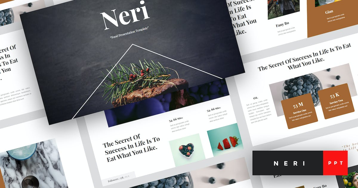 Download Neri - Food PowerPoint Template by StringLabs