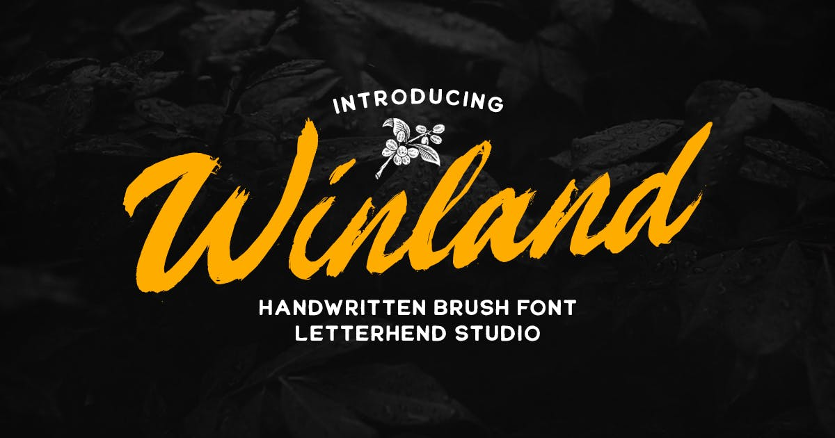 Download Winland - Brush Font by letterhend