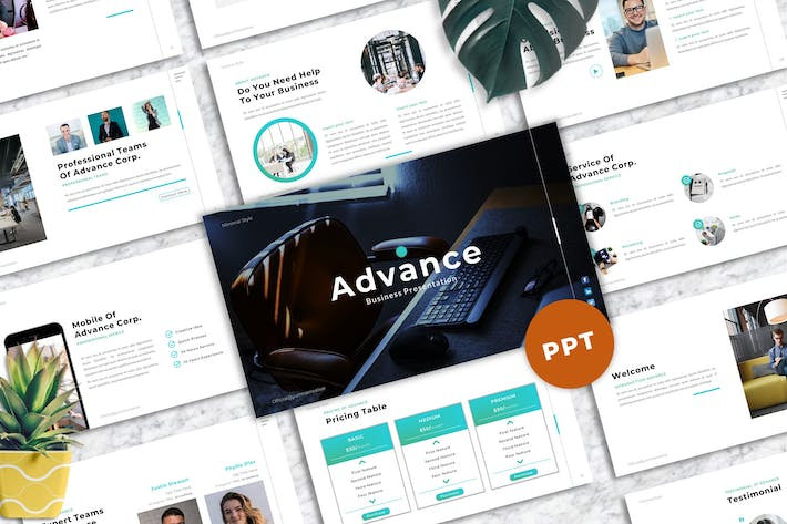 Thumbnail for Advance - Business Powerpoint Template