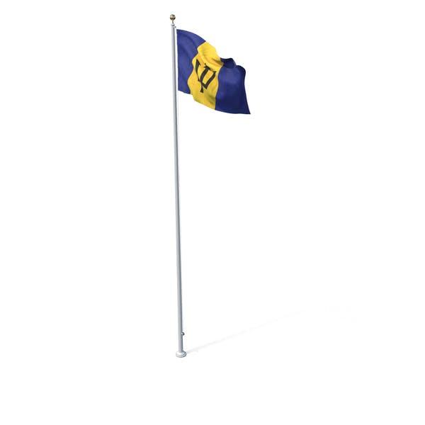 Fahne auf Pole Barbados
