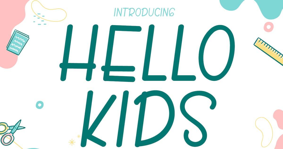 Download Hello Kids - Cute Handwritten Font by Creavora