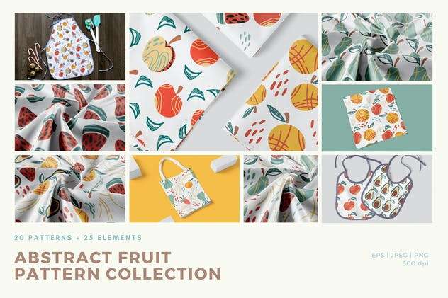 Abstract Fruit Pattern Collection