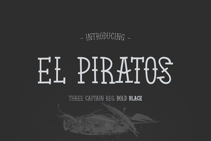 EL PIRATOS - Sailor Tattoo Font