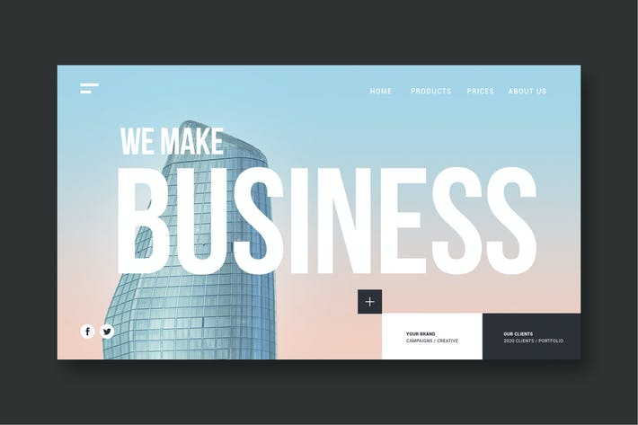 Thumbnail for We make business - Landing Page