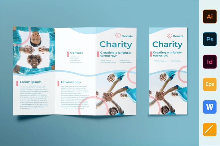 Cover Image For Charity Brochure Trifold