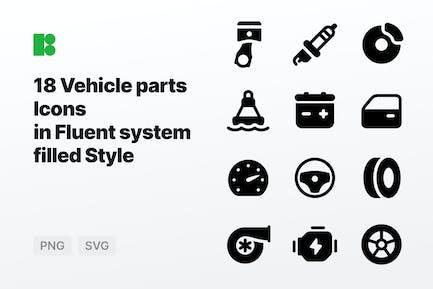 Fluent system filled - Vehicle parts
