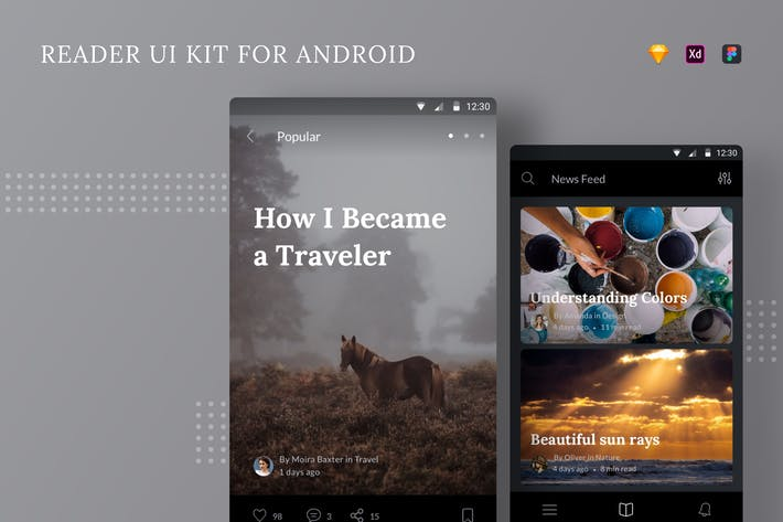 Thumbnail for Читатель UI Kit для Android