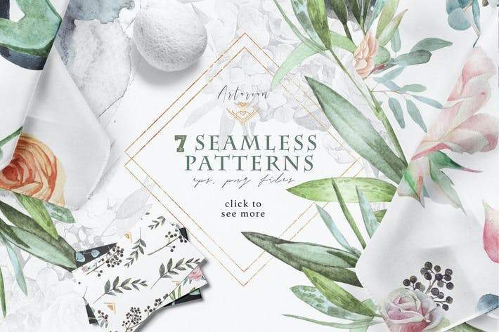"Thumbnail for Seamless patterns ""Artarian"" vol.2.3"