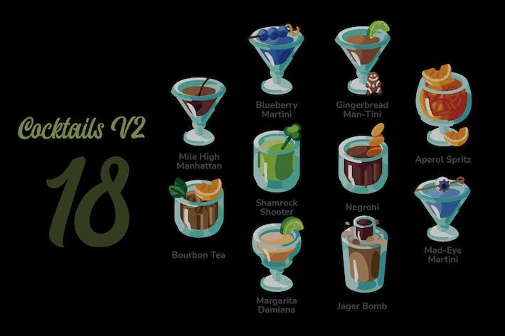 Cocktails V2 - Illustration Sets