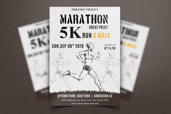 Thumbnail for Marathon Event Flyer-07