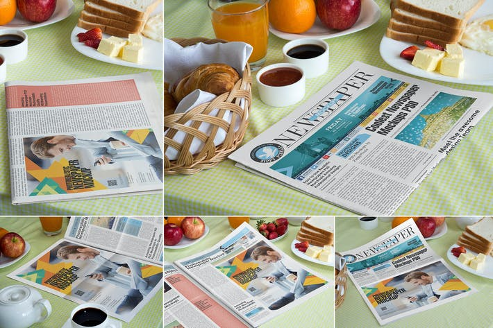 Thumbnail for Newspaper Mockup Templates
