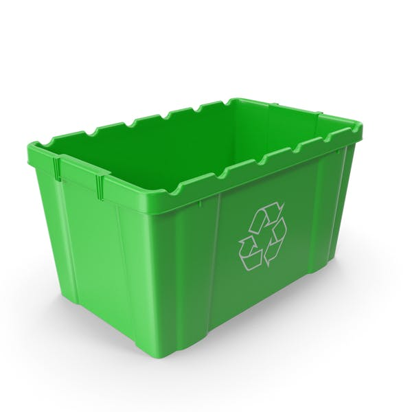 Зеленая мусорная корзина