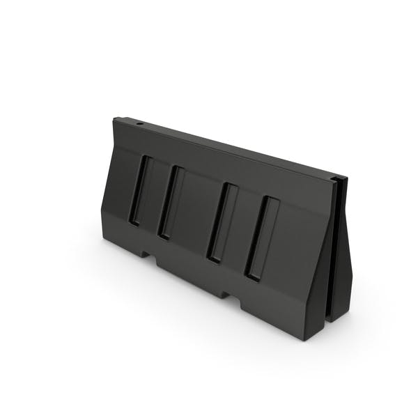 Road Barrier Plastic Black