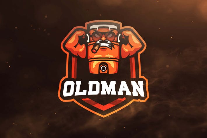 Cover Image For Old Man Sport and Esports Logos