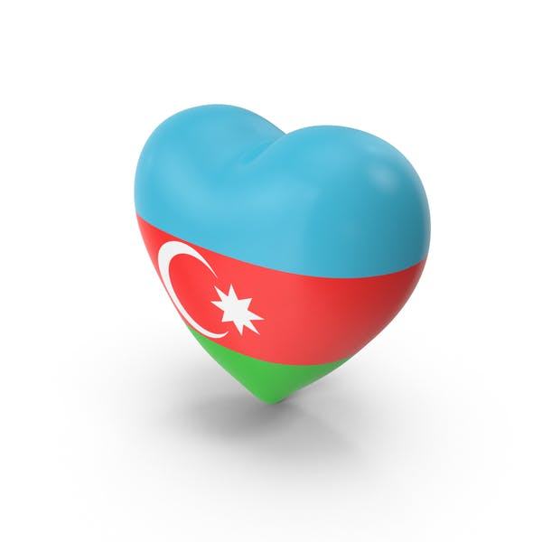 Thumbnail for Azerbaijan Flag Heart