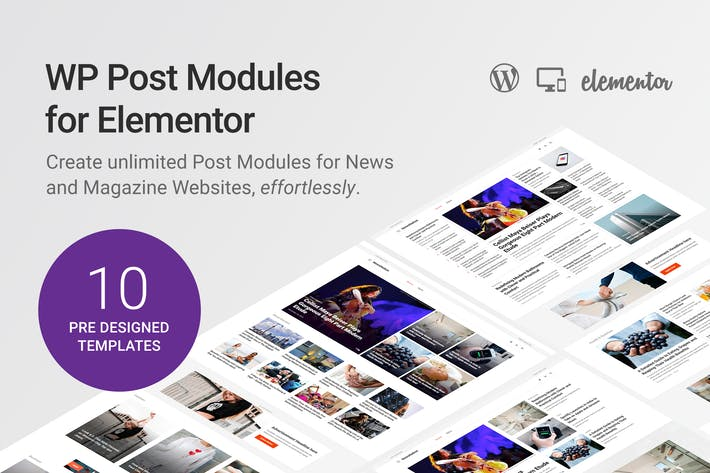 Thumbnail for WP Post Modules for Elementor