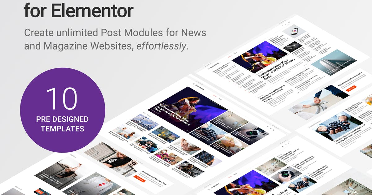 Download WP Post Modules for Elementor by SaurabhSharma