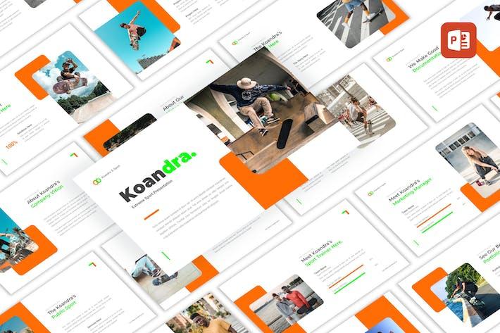 Koandra - Экстремальный спорт PowerPoint Шаблон