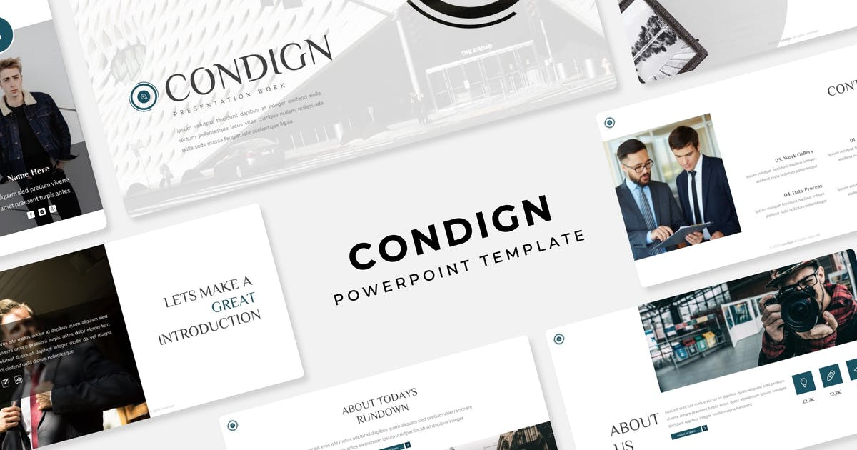 Download Condign - PowerPoint Template by IanMikraz