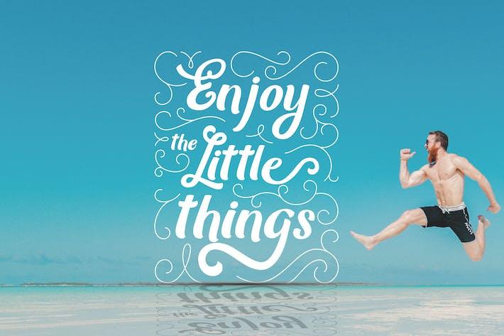 Genießen Sie die kleinen Dinge