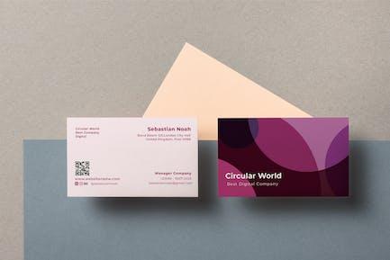 Circular World Business Card