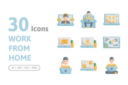 30 Work From Home Icons