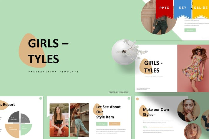 Thumbnail for Girl Tyles | Powerpoint, Keynote, Googleslides