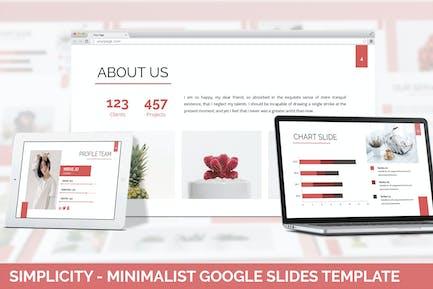 Simplycity - Minimalist Google Slides Template