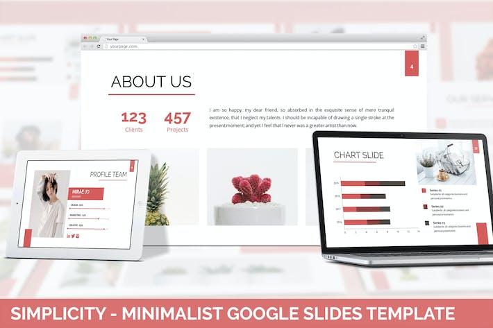 Thumbnail for Simplycity - Minimalist Google Slides Template