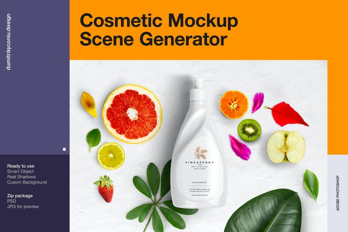 Thumbnail for Cosmetic Mockup - Scene Generator