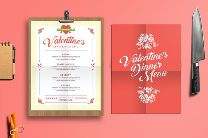 Thumbnail for Valentine's Diner Menu