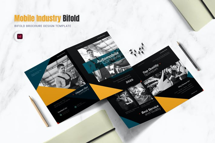 Thumbnail for Auto Mobile Industry Bifold Brochure