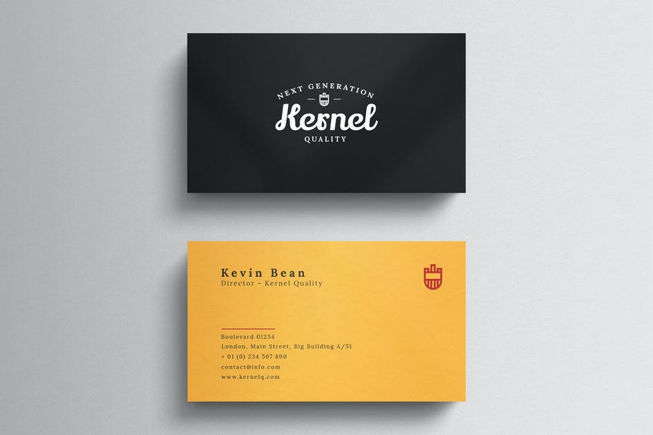 Minimal name card template by eightonesixstudios on envato elements reheart Gallery