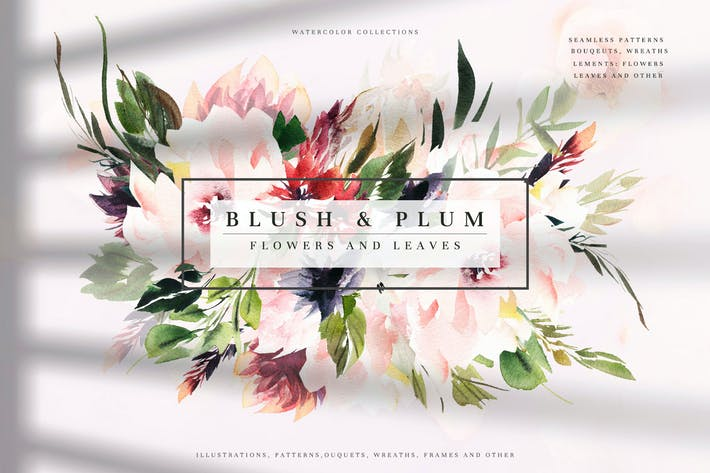 Thumbnail for Watercolor Blush & Plum