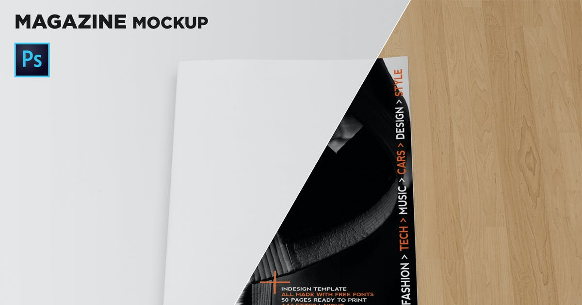 Download Magazine Cover Mockup by andre28