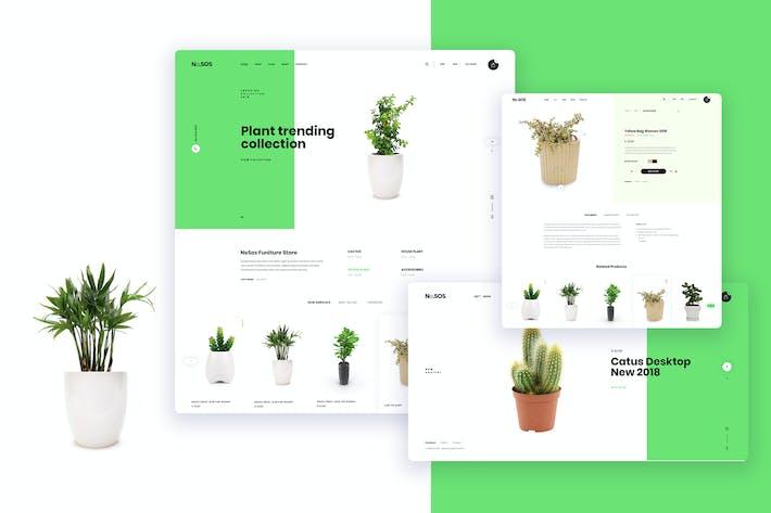Thumbnail for Ne24 - plant store Ecommerce PSD template