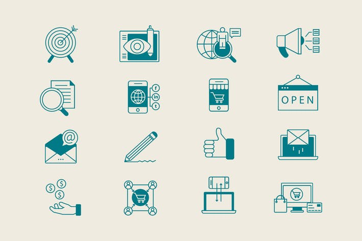 Thumbnail for Digital Marketing Icons