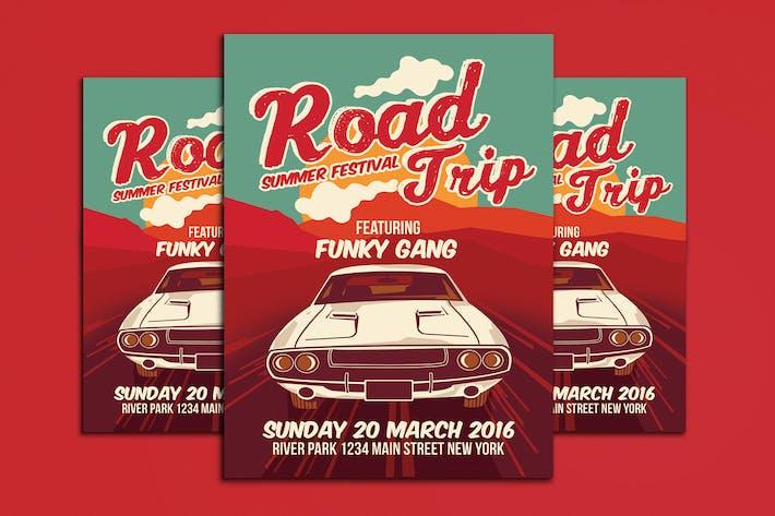 Thumbnail for Road Trip Summer Festival Poster flyer