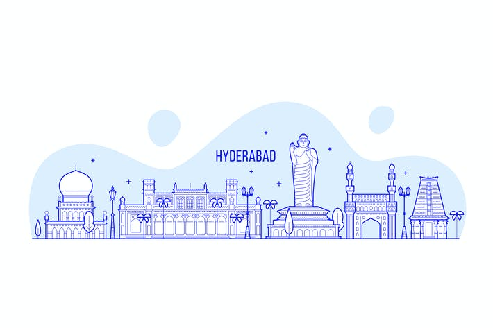 Thumbnail for Hyderabad skyline, India
