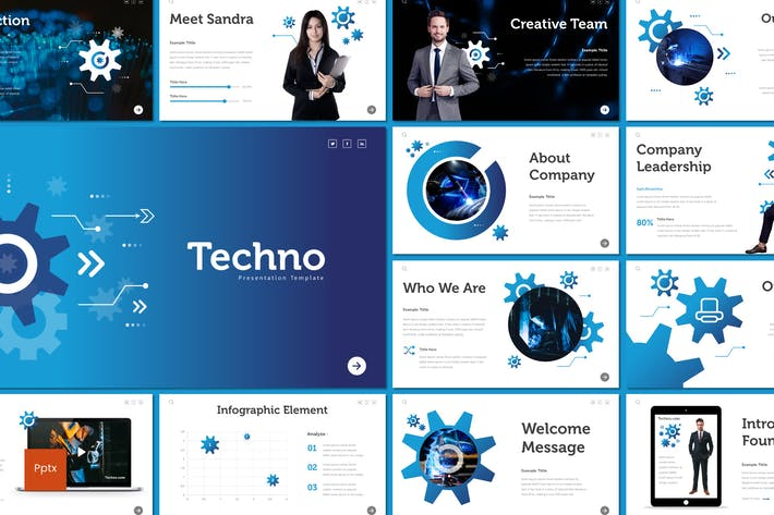 Cover Image For Techno - Powerpoint Template