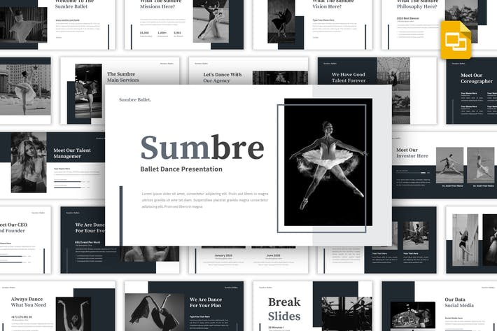 Thumbnail for Sumbre - Ballet Dance Google Slides Template